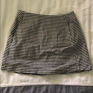 Urban Outfitters Black & White Plaid A Line Skirt